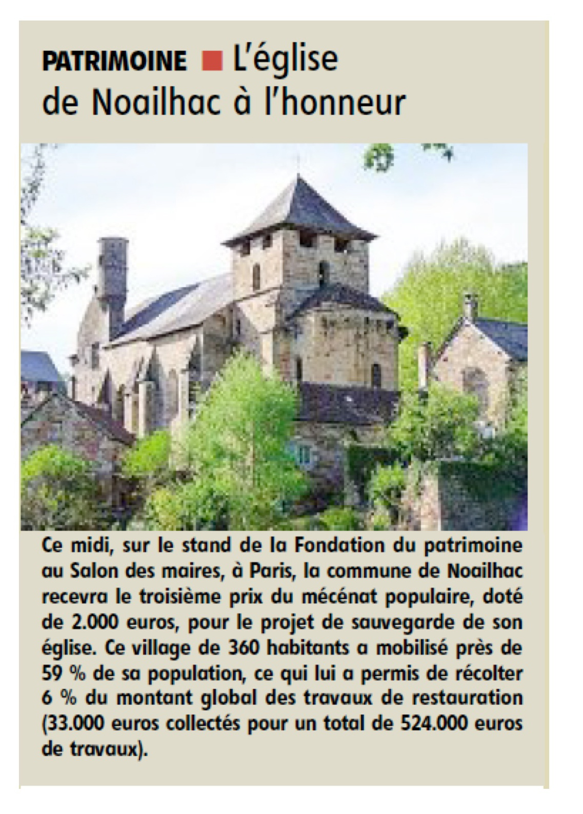 article  la Montagne 20/11/2013